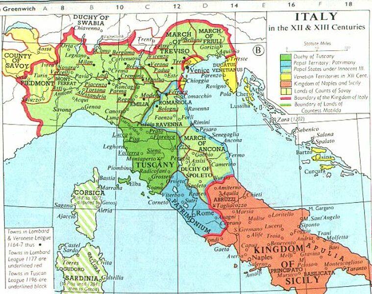 Norditalien Karte.Kinderzeitmaschine ǀ Wie War Das Mit Italien