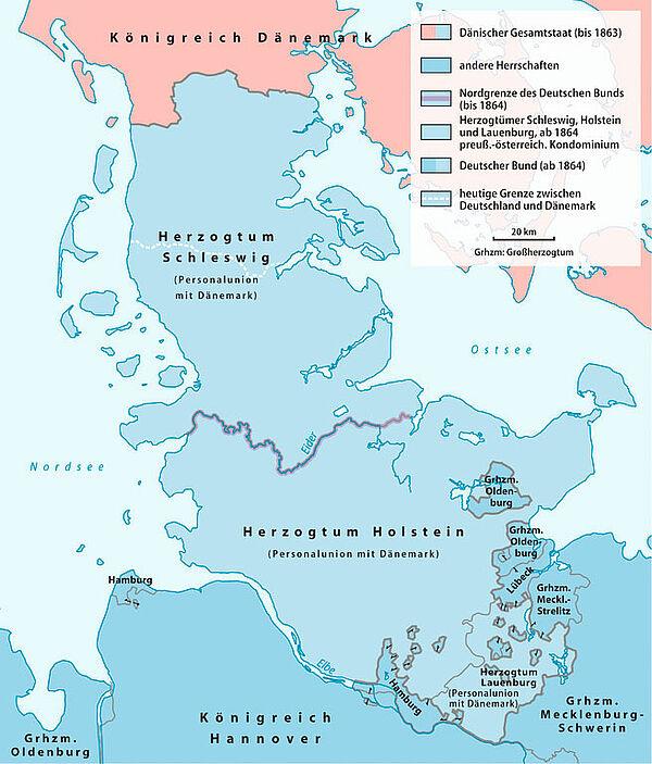 Deutsch Dänischer Krieg Karte