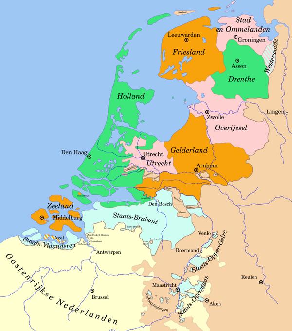 Zeeland Karte Niederlande.Kinderzeitmaschine ǀ Achtzigjähriger Krieg Spanisch