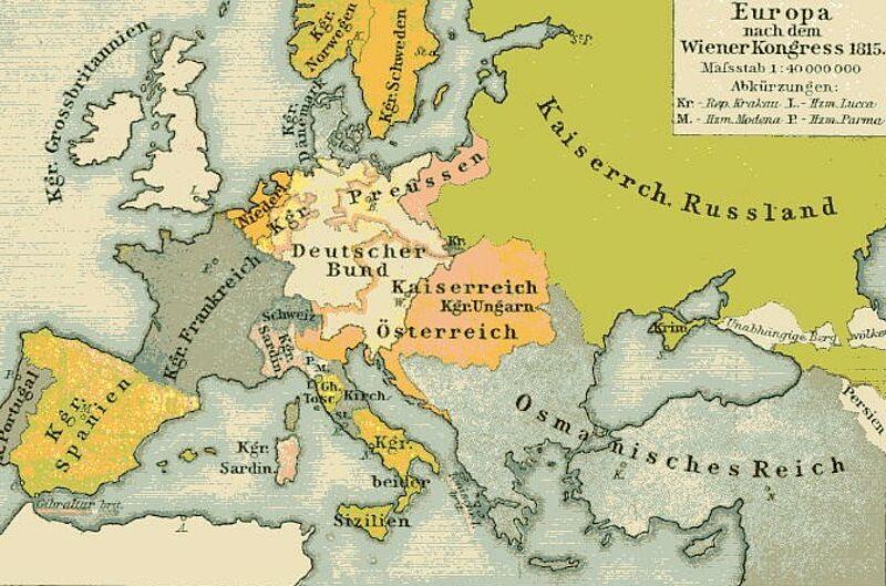 Deutsche Karte Vor Dem 1 Weltkrieg.Kinderzeitmaschine ǀ Wiener Kongress