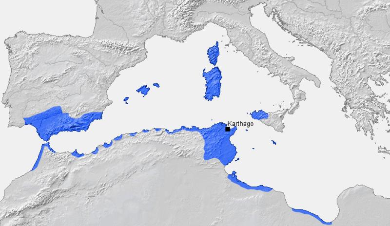 karthago karte Kinderzeitmaschine ǀ Punische Kriege: Rom gegen Karthago