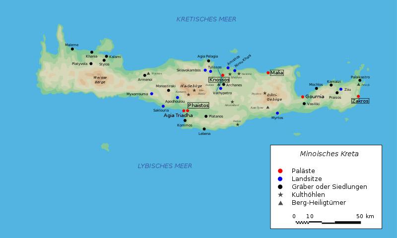 Griechenland Karte Kreta.Kinderzeitmaschine ǀ Vorpalastzeit Auf Kreta Konig Minos